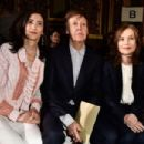 Nancy Shevell,Paul McCartney and Isabelle Huppert attend the Stella McCartney show as part of the Paris Fashion Week Womenswear Fall/Winter 2016/2017 on March 7, 2016 in Paris, France.