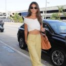 Lily Aldridge Arriving At Lax Airport In Los Angeles