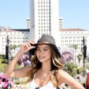 Actress Jamie Chung, wearing American Eagle Sky High Demin, attends American Eagle Outfitters Celebrates the Budweiser Made in America Music Festival during day 1 at Los Angeles Grand Park on August 30, 2014 in Los Angeles, California - 407 x 594