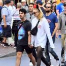 Sophie Turner and Joe Jonas at Disneyland in Anaheim