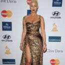 Amber Rose and Wiz Khalifa  arrive at Clive Davis and the Recording Academy's 2012 Pre-GRAMMY Gala and Salute to Industry Icons Honoring Richard Branson held at The Beverly Hilton Hotel in Beverly Hills, California - February 11, 2012 - 410 x 594