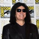 Gene Simmons of Kiss attends the Scooby-Doo! and Kiss: Rock and Roll Mystery Press Room during Comic-Con International 2015 at the at Hilton Bayfront on July 9, 2015 in San Diego, California.