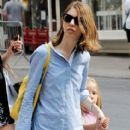 Sofia Coppola takes her daughter Romy shopping in Soho - 412 x 594