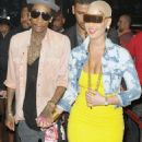 Amber Rose, Wiz Khalifa, and Trey Songz at Cameo Nightclub in Miami, Florida - January 28, 2012 - 454 x 868