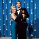 Nicolas Cage and Patricia Arquette At The 68th Annual Academy Awards - Press Room (1996) - 321 x 458