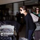 Camilla Belle and Virginia Madsen at LAX