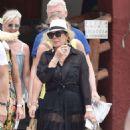 Kris Jenner in Black Dress on holiday on Portofino - 454 x 767