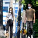 Lily Collins and Charlie McDowell – Out for a walk in Beverly Hills
