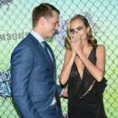 Joel Kinnaman and Cara Delevingne at 'Suicide Squad' Premiere in New York 08/01/2016 - 445 x 512