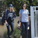 Nina Dobrev in Jeans out in LA - 454 x 530