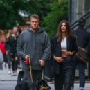 Emily Ratajkowski and Sebastian Bear-McClard – Walking their dog in Manhattan
