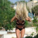 Bianca Gascoigne in Black Bikini in Cyprus - 454 x 808