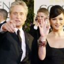 Michael Douglas and Catherine Zeta-Jones at The 61st Annual Golden Globe Awards (2004) - 454 x 302