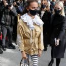 Alicia Vikander – Arriving at the Louis Vuitton Show in Paris