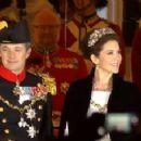 Crown Princess Mary Elizabeth of Denmark and Kronprins Frederik : New Year's reception 2015