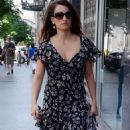 Penelope Cruz: strolled up the street in Madrid