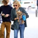 Naomi Watts is all smiles while out and about in New York City, New York with her mom Myfanwy Edwards Roberts on October 17, 2016 - 406 x 600