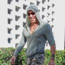 Mickey Rourke is spotted out for lunch at Cafe Roma in Beverly Hills, California on August 15, 2015 - 454 x 555