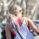 Ashley Tisdale Leaving Pilates Class In La