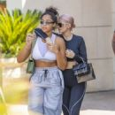 Kylie Jenner in Tights – Shopping with Jordyn Woods in Calabasas