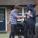 Harry Styles was surrounded by fans upon his return to his family home in Holmes Chapel today, July 15