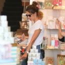 Alessandra Ambrosio grabs party supplies on June 8, 2016
