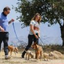 Alicia Silverstone – Walking her dogs in Los Angeles