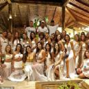 Neymar enjoyed a white party as he closed the book on 2018 on Monday night - 454 x 339