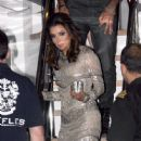 Eva Longoria leaves a yacht party with her boyfriend Eduardo Cruz during the 65th Annual Cannes Film Festival on May 18, 2012 in Cannes, France