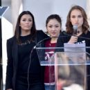 Natalie Portman, Eva Longoria and Constance Wu – 2018 Women's March in Los Angeles - 454 x 597