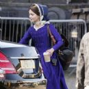 Jenna Louise Coleman Filming the ITV drama 'Victoria' in Hartlepool - 454 x 673