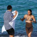 Michelle Rodriguez in Bikini on the beach in St. Tropez