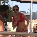 Candice Brown in Red Bikini – Wet Republic Pool Party in Las Vegas - 454 x 701