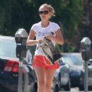 Natalie Portman In Shorts At Pilates Class In Los Feliz