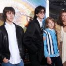 "L-R) Jonathan Raven Ocasek, Ric Ocasek, Oliver Orion Ocasek and Paulina Porizkova attend the ""Hugo"" premiere at the Ziegfeld Theatre on November 21, 2011 in New York City."