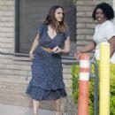 Jessica Alba in Blue Dress – Visits her friends in Santa Monica - 454 x 542