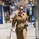 Georgina Burke – walking her dog in the Tribeca – New York