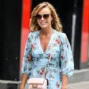 Amanda Holden – Wearing a flower print dress while leaving the Global Radio Studios in London