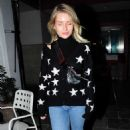 Lottie Moss at the Bluebird Cafe on the Kings Road in Chelsea - 454 x 737