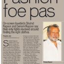 Shahid Kapoor and Sonam Kapoor's Fashion Foe Pas - scanned news