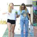 Miley Cyrus in Shorts with her mom Tish Cyrus – Out in Los Angeles