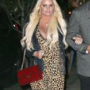 Jessica Simpson in Leopard Print Dress – Out in New York City - 454 x 823