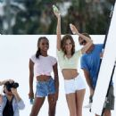 Jasmine Tookes and Josephine Skriver – Photoshoot in Miami - 454 x 640