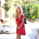Hayden Panettiere in Red Dress – Out in Los Angeles - 454 x 624