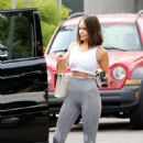 Olivia Culpo in Leggings and Crop Top – Heads to workout in Los Angeles