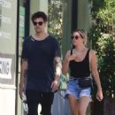 Ashley Tisdale in Jeans Shorts – Out and about in Los Angeles - 454 x 681