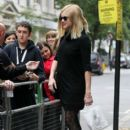 Fearne Cotton: arrive at BBC Radio 1 studios