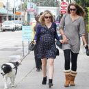 Anna Paquin taking her dog for a walk in Venice, CA (August 24) - 454 x 371