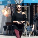 Nina Dobrev – Leaving a dance class with a friend in LA