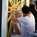 Candice Swanepoel Max Factor Ad Campaign Shoot 2015